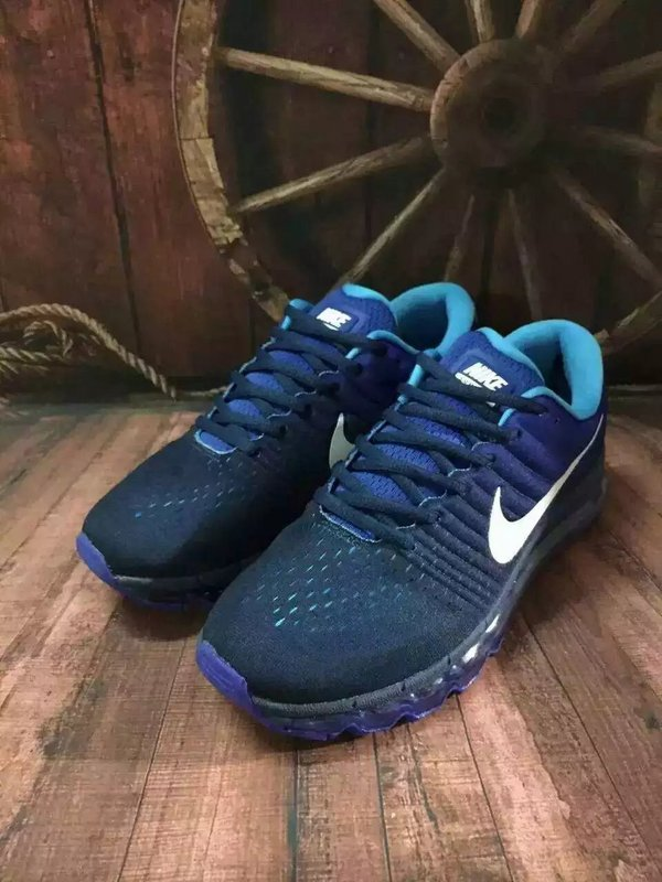 New Men Air Max 2017 Deep Blue White Shoes