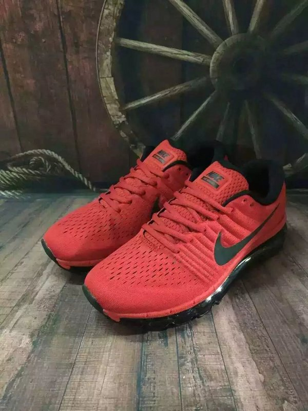 New Men Air Max 2017 Red Black Green Shoes
