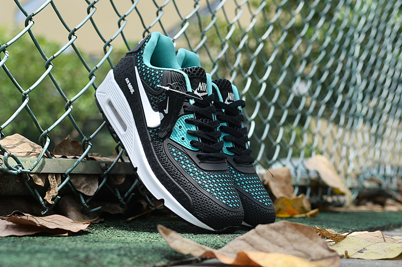 New Air Max 90 Black Blue Women Shoes