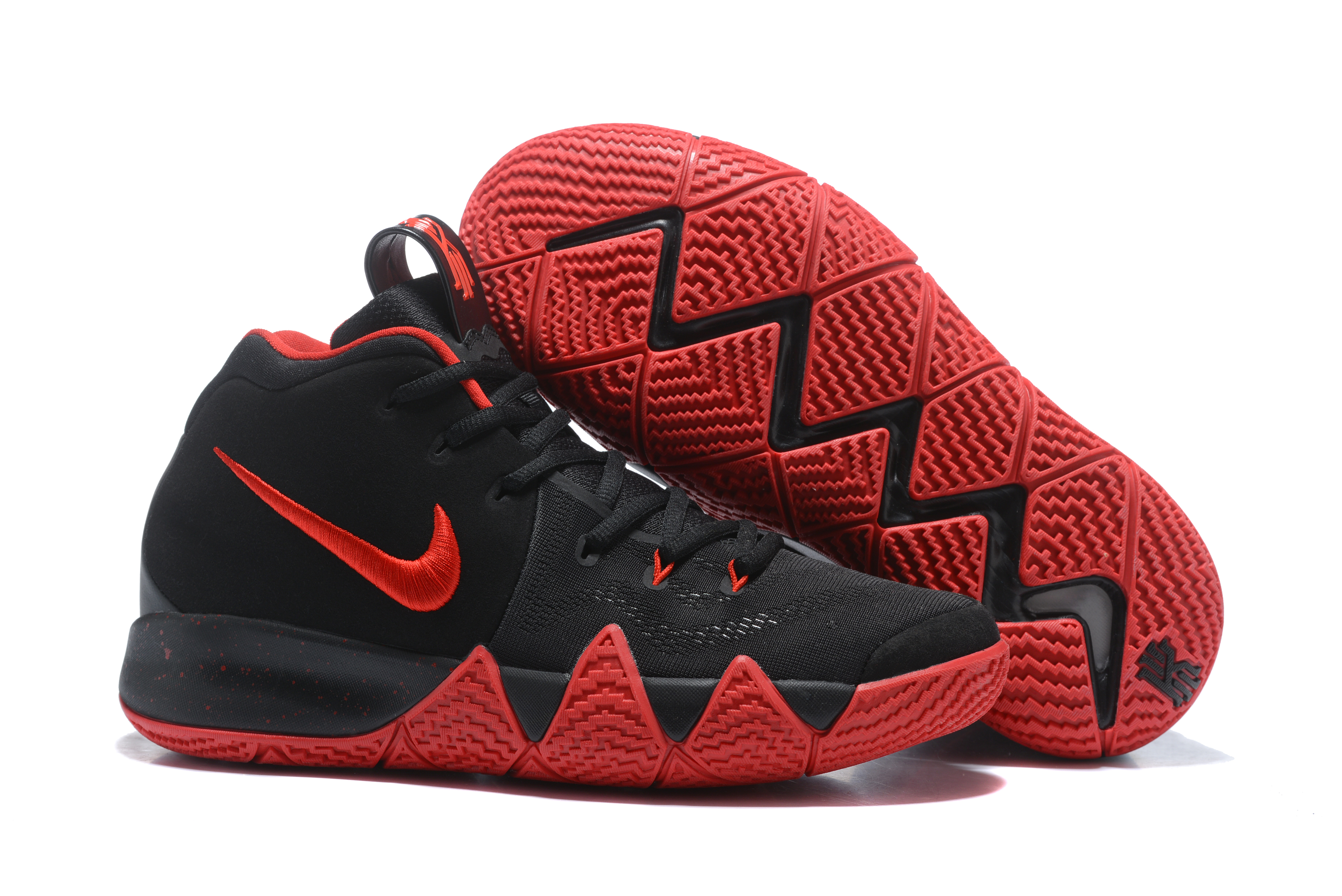 2017 Nike Kyrie 4 Black Red Basketball Shoes