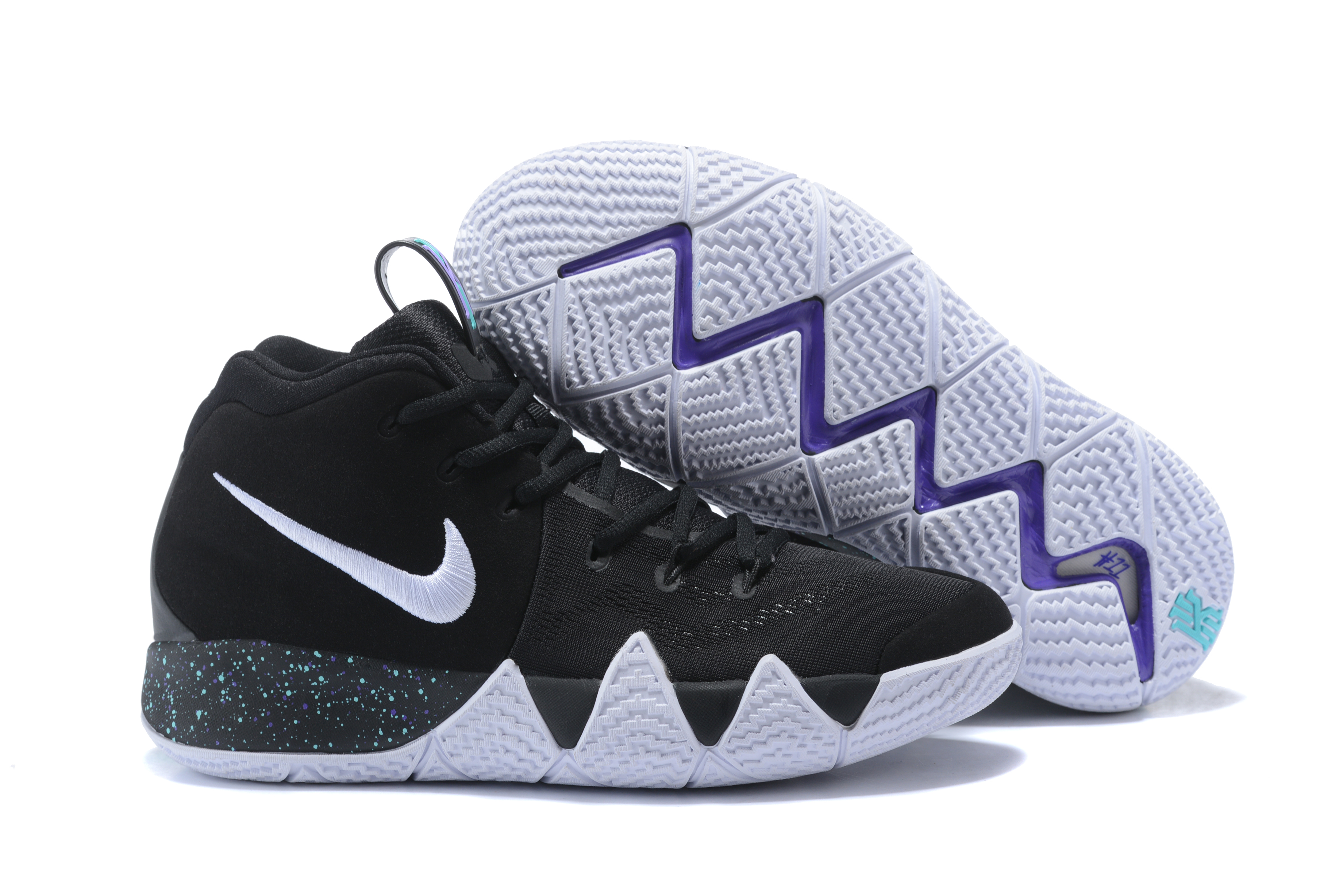 2017 Nike Kyrie 4 Black White Basketball Shoes