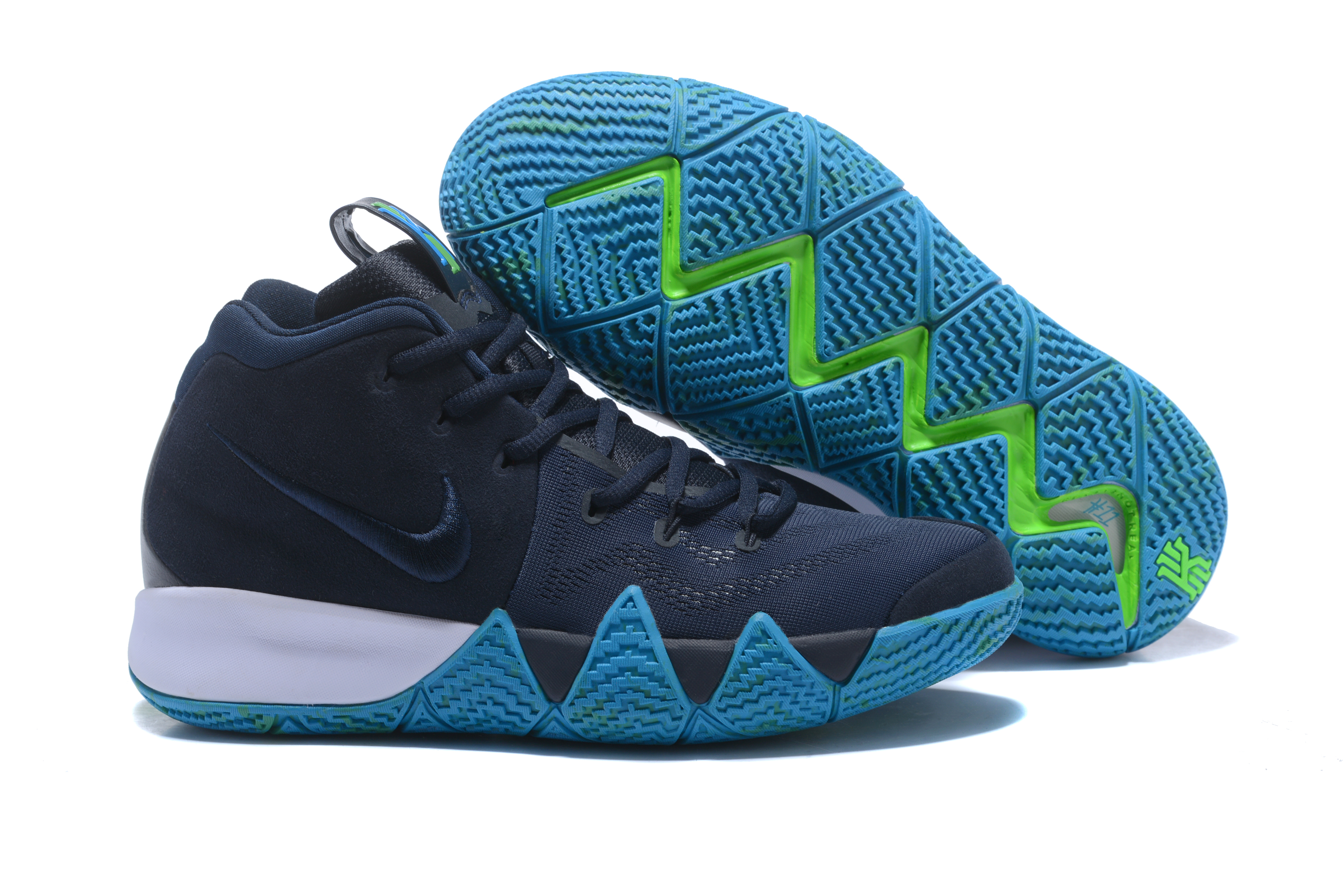 2017 Nike Kyrie 4 Dark Blue Jade Basketball Shoes