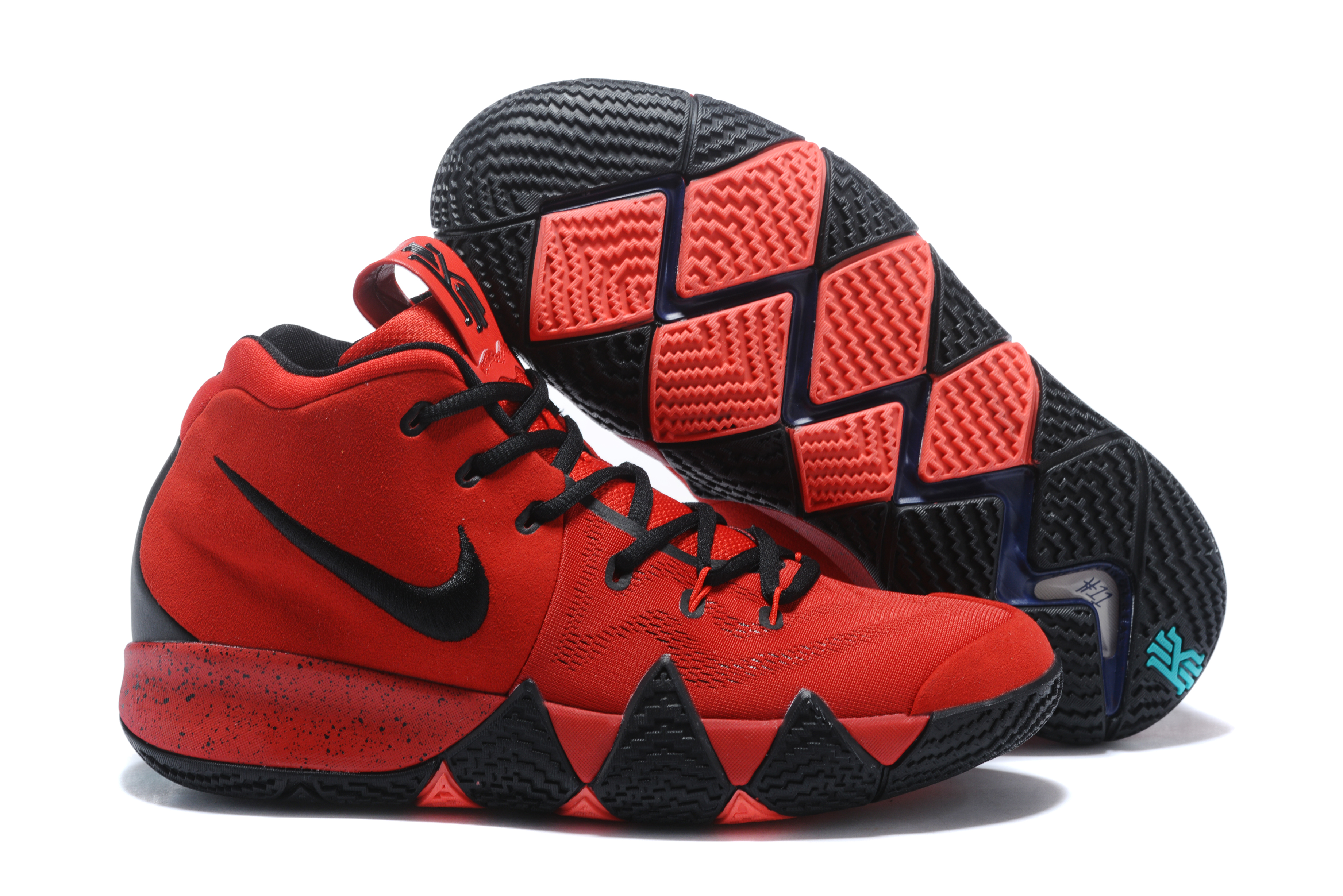 2017 Nike Kyrie 4 Red Black Basketball Shoes