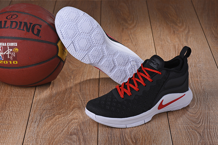 2017 Nike Lebron Wintness Flyknit 2 Black Red Basketball Shoes