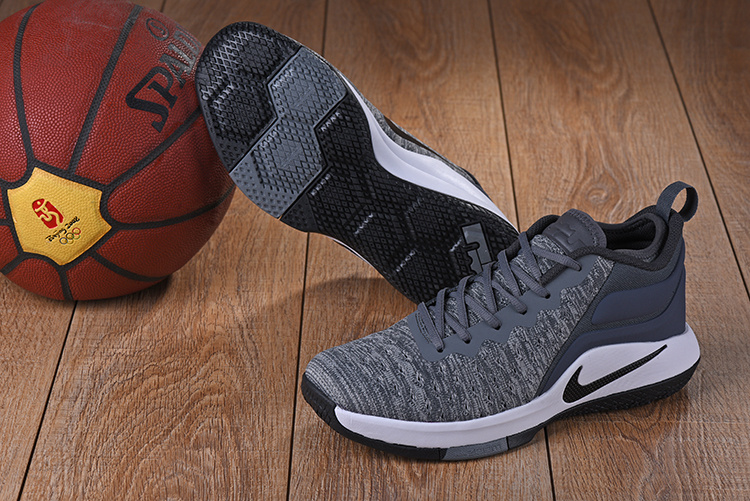 2017 Nike Lebron Wintness Flyknit 2 Carbon Grey White Basketball Shoes