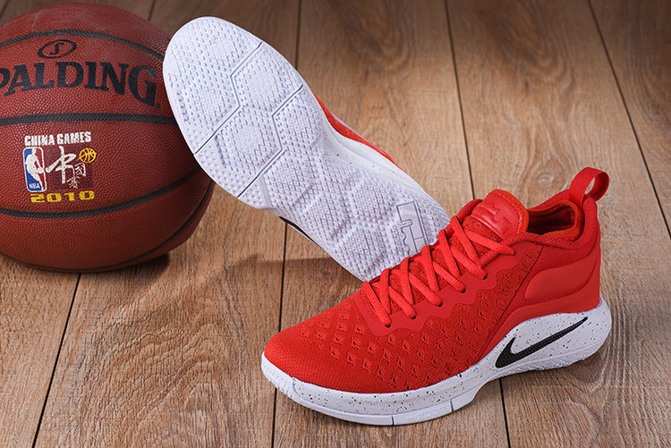 2017 Nike Lebron Wintness Flyknit 2 Red White Black Basketball Shoes