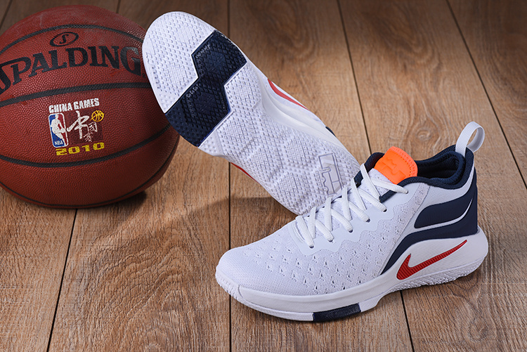 2017 Nike Lebron Wintness Flyknit 2 White Dark Blue Red Orange Basketball Shoes