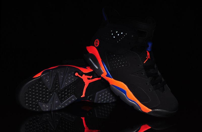 best sneakers e0efd 9e009 New Retro Air Jordan 6 Knicks Colorways Black Orange Blue Shoes
