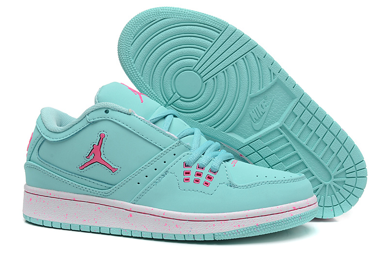 2015 Women's Air Jordan 1 Flight Low Green Pink