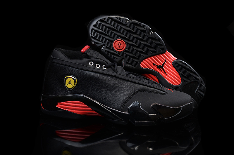 New Women Air Jordan 14 Low Black Red Shoes