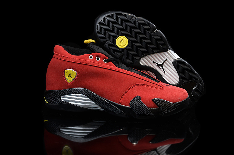 New Women Air Jordan 14 Low Red Black White Shoes