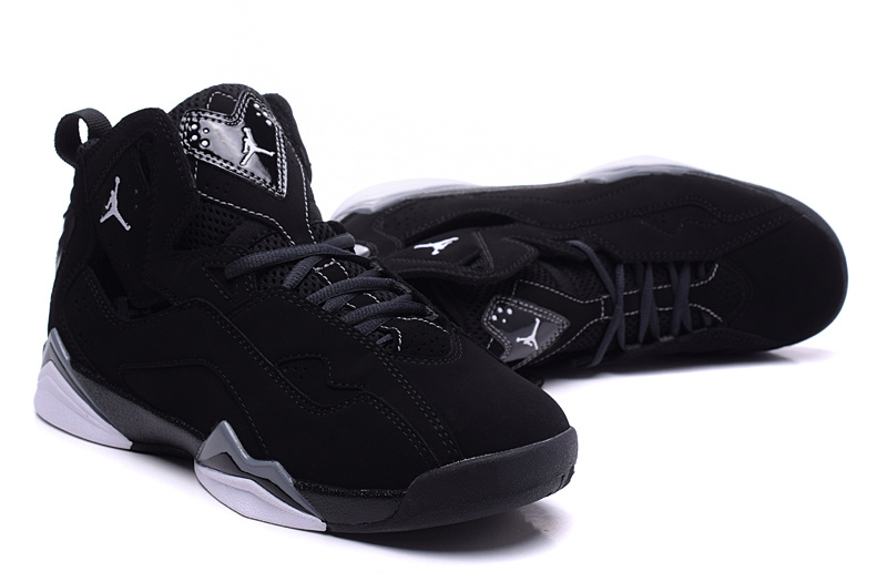 New Women Air Jordan 7 Improved All Black Shoes