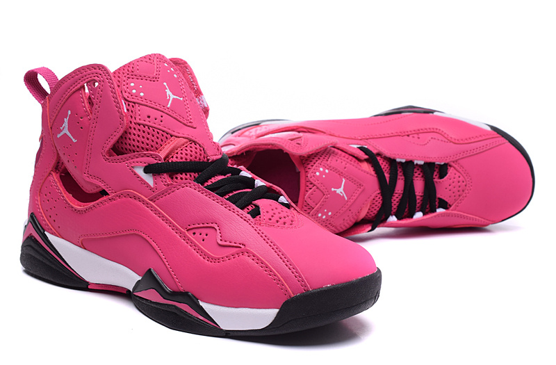 New Women Air Jordan 7 Valentine Enhanced Version Pink Black White