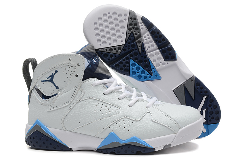 dc072f0909ed4c New Women Jordan 7 Retro White French Blue Shoes  WOMEN349  -  87.00 ...