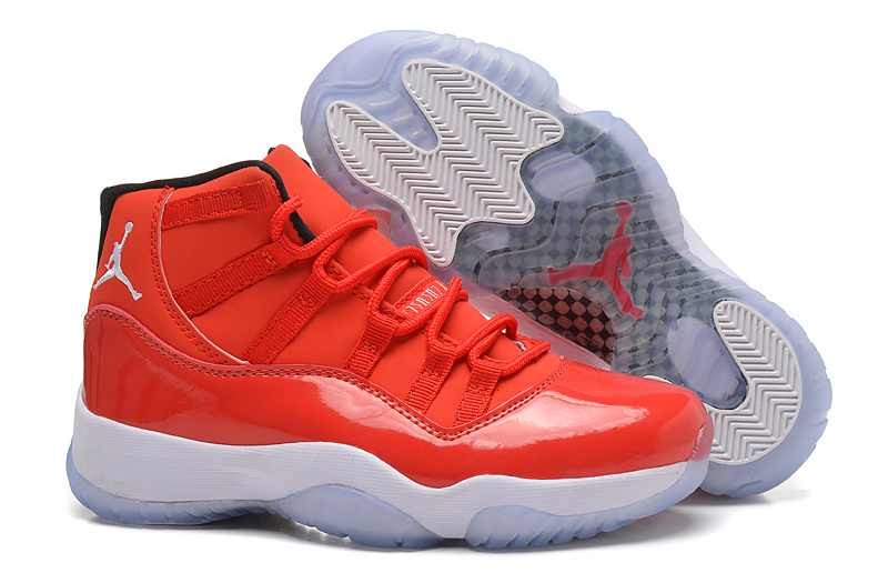 New Womens Air Jordan 11 Toro Red White Shoes