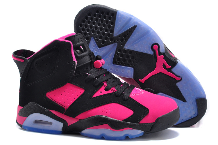 new product 3144a d998f Authentic New Womens Air Jordan 6 Retro Black Red Shoes For ...
