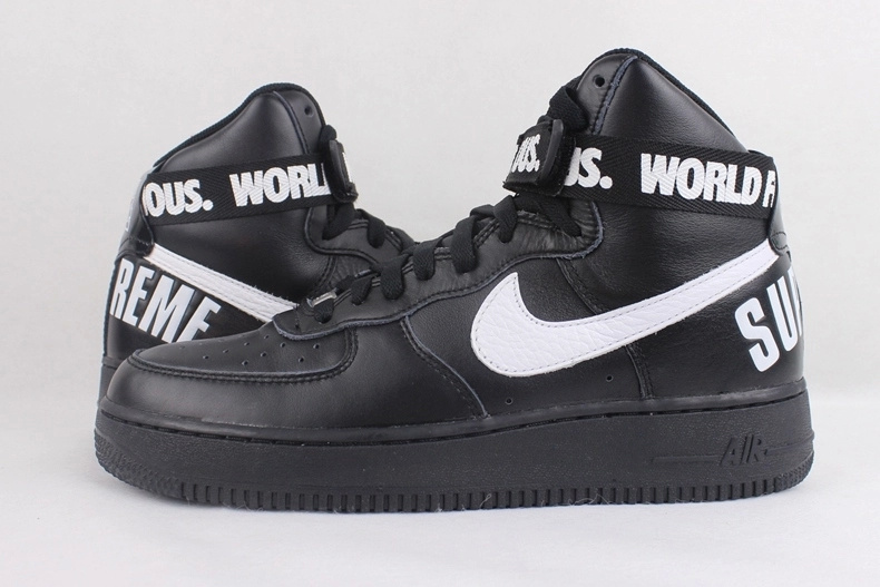 low priced 443b3 80133 Nike Air Force 1 High Supreme Black White Sneaker