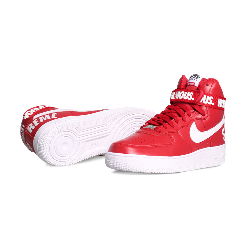 Nike Air Force 1 High Supreme Red White Sneaker