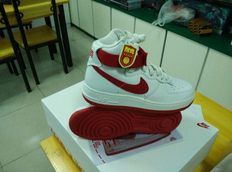 Nike Air Force 1 High White Red Sneaker