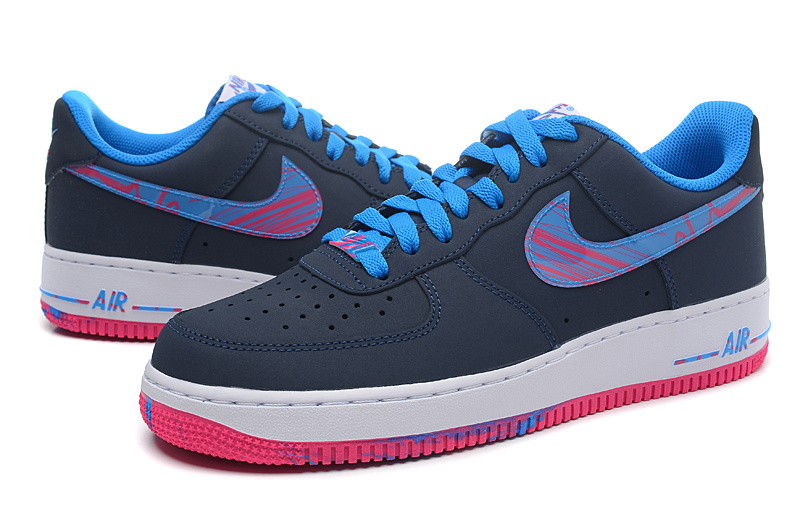 Nike Air Force 1 Low The South Coast Black Blue Red Sneaker
