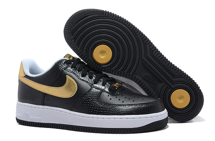 Nike Air Force 1 Low Black Glod Sneaker