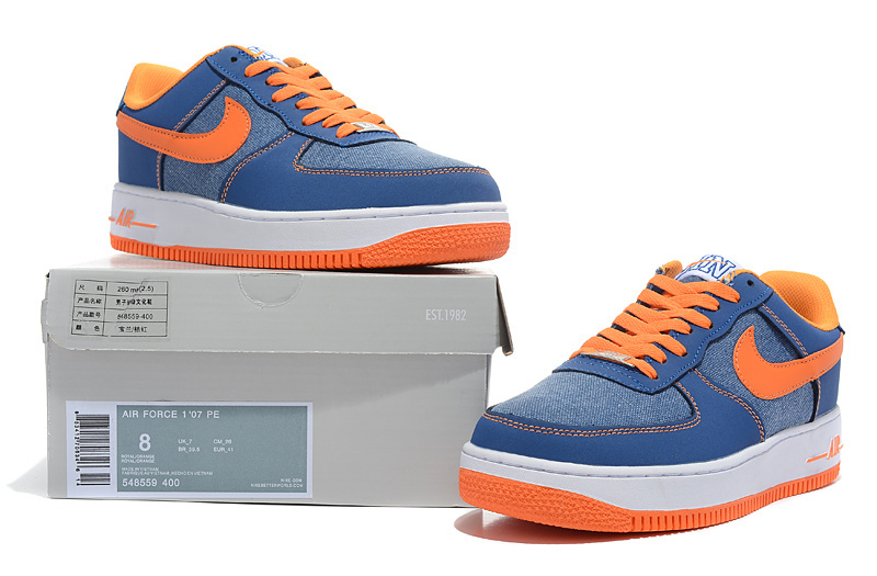 Nike Air Force 1 Low Jermy Lin Blue Orange Sneaker