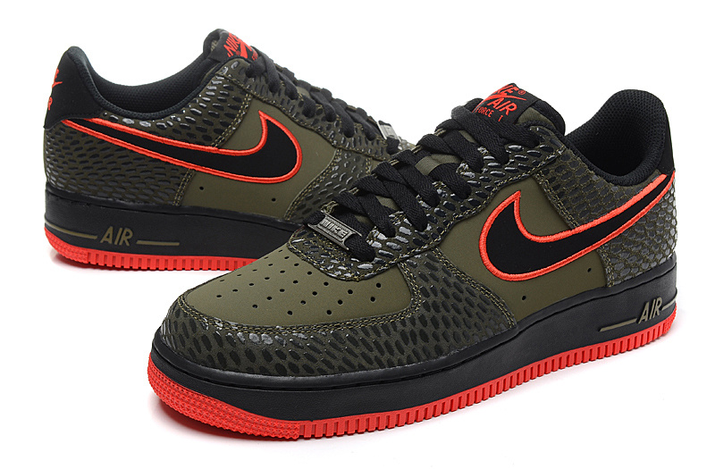Nike Air Force 1 Low Snake Scale Weaving Black Sneaker