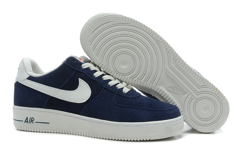 Nike Air Force 1 Low Super soft suede Blazer Dark Blue White Sneaker