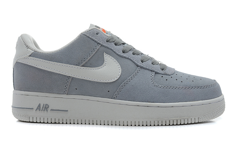 Nike Air Force 1 Low Super soft suede Blazer Grey White Sneaker