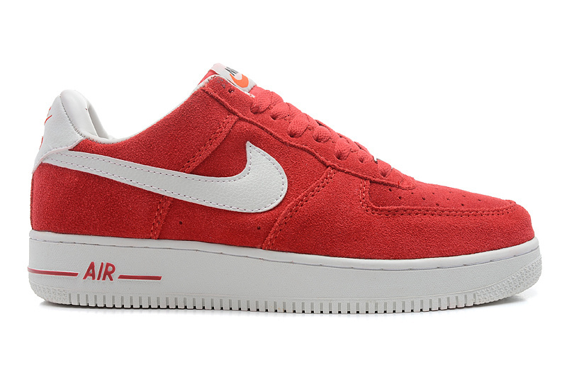 Nike Air Force 1 Low Super soft suede Blazer Red White Sneaker