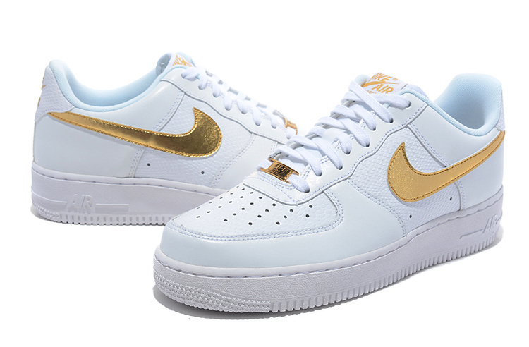 Nike Air Force 1 Low White Glod Sneaker