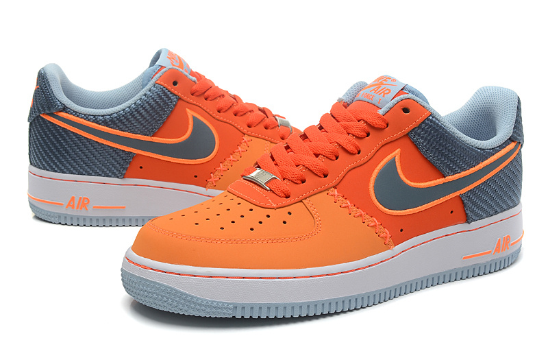 Nike Air Force Low Orange Grey Sneaker