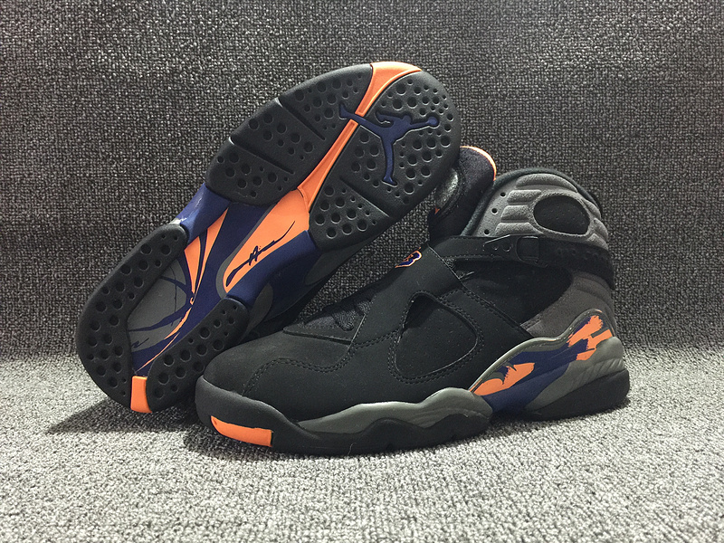 Air Jordan 8 Retro Suns Black Shoes
