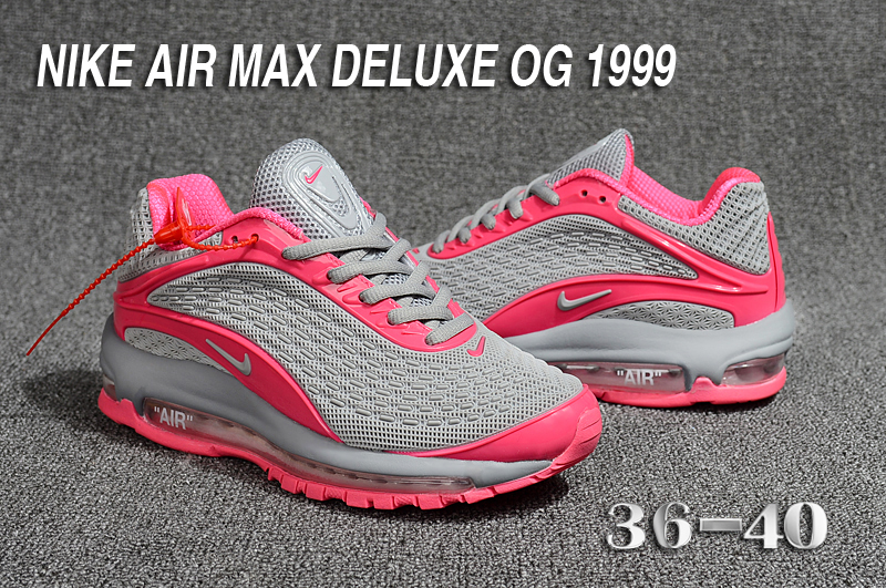new arrival 3cd16 d9dae Nike Air Max Deluxe OG 1999 Grey Pink Running Shoes For Women