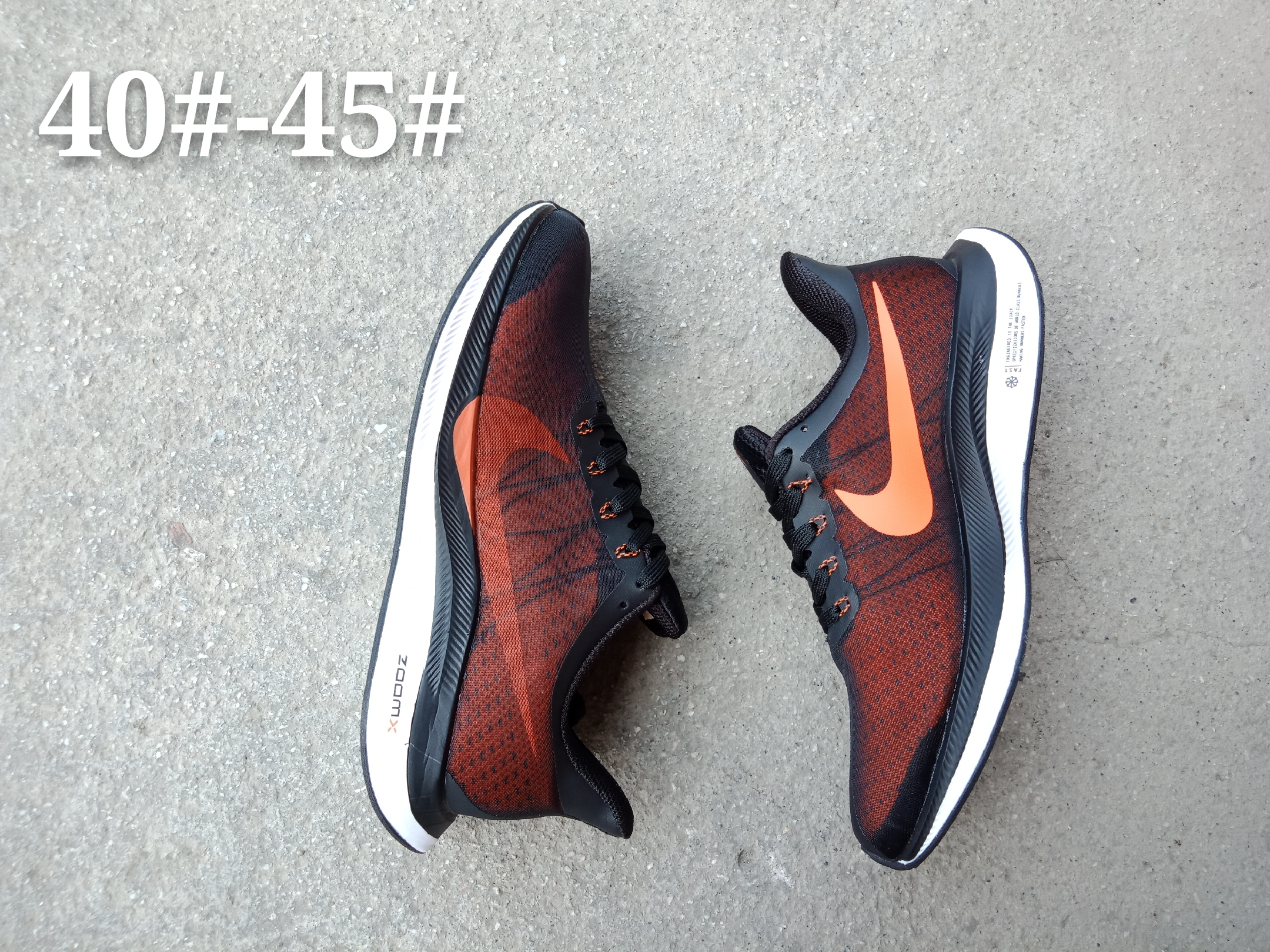 Nike Air Zoom Pegasus 35X Orange Black Shoes