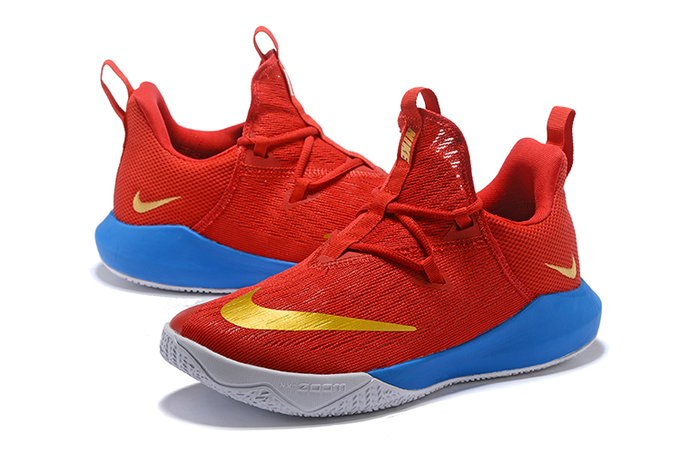 Nike Air Zoom Team II Red Gold Blue Shoes