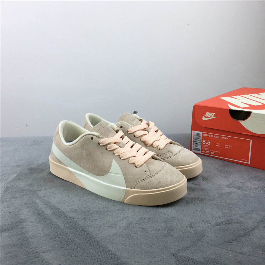 Nike Blazer Low LX Grey Yellow White Shoes For Women