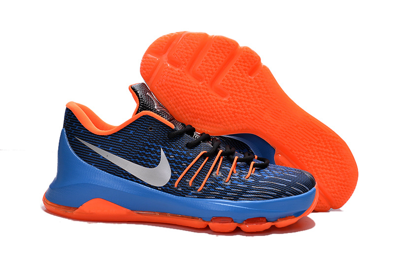 Nike KD 8 Black Orange Blue Basketball Shoes