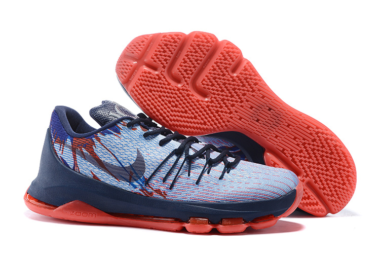 Nike KD 8 Dark Blue Red Basketabll Shoes