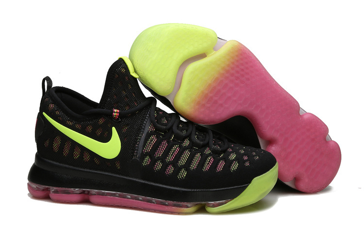 Nike KD 9 Black Fluorescent green Pink Shoes