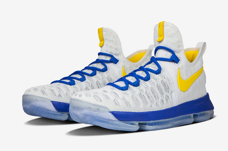 Nike KD 9 Gloden State The Warriors Home Color Basketball SHoes