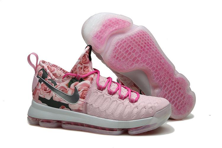 quality design f9b29 b9e34 Nike KD 9 Pink Black Shoes