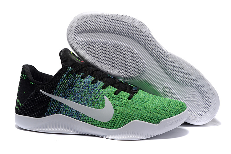 hot sale online 96ade 8f7cf ... coupon code for nike kobe 11 black man green woven basketball shoes  fc69b 0b237 ...
