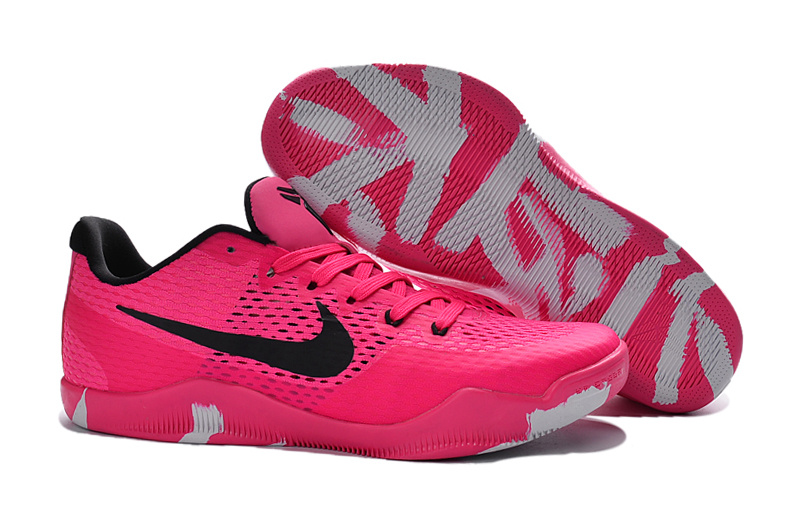 Nike Kobe 11 Breast Cancer Red Color Woven Basketball Shoes