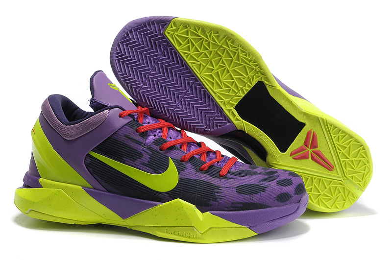 Nike Kobe 7 Christmas Game Purple Dark Green Black Sneaker