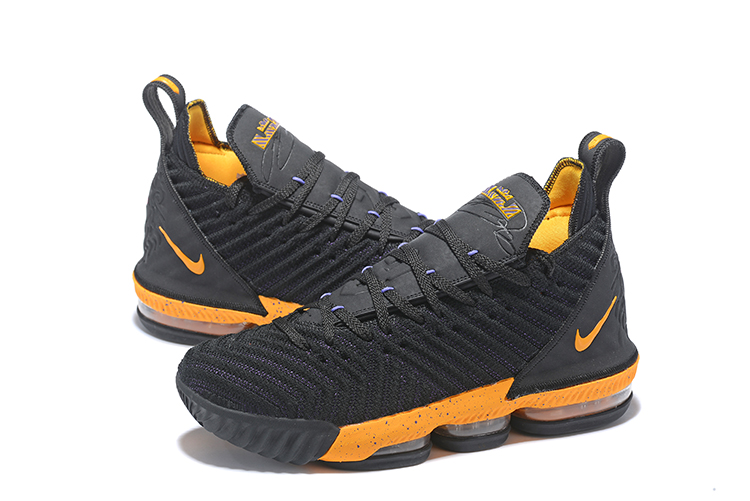 Nike LeBron James 16 Black Gold Basketball Shoes For Women