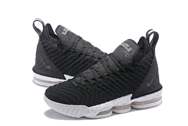 Nike LeBron James 16 Black White Basketball Shoes For Women