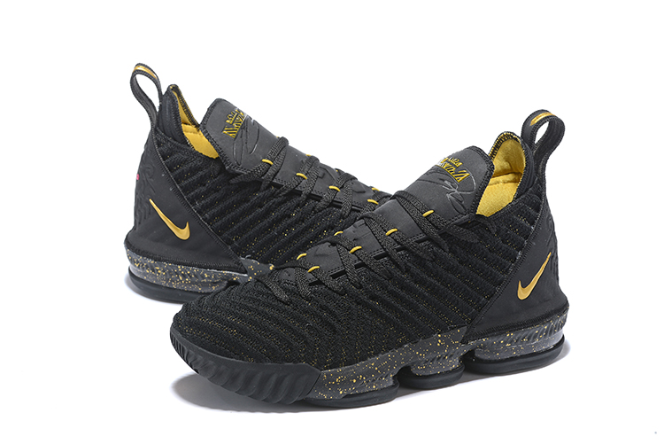 Nike LeBron James 16 Black Yellow Basketball Shoes For Women