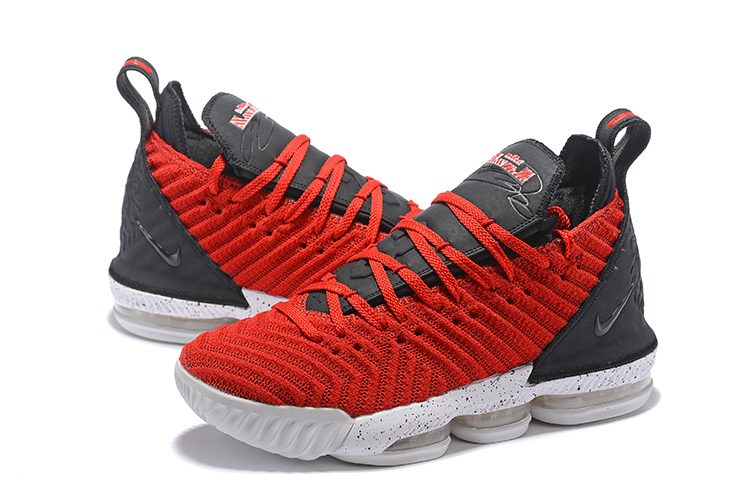 Nike LeBron James 16 Red Black White Basketball Shoes For Women