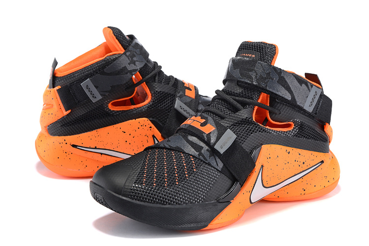 Nike LeBron Solider 9 Black Orange Red Basketball Shoes